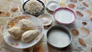 របៀបធ្វើបង្អែមបបរត្រាវ Khmer Dessert Asian Dessert Recipe