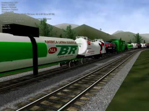 Open Rails GT18 ALL com vagoes mistos ALL Andre só love