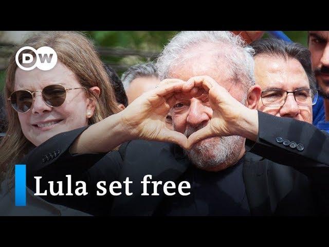 Thousands cheer Brazil's former President Lula da Silva | DW News