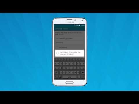 6f6fba4b Eksperthjelp: Slik setter du opp en ny e-postkonto på Android | Telenor  Norge - YouTube