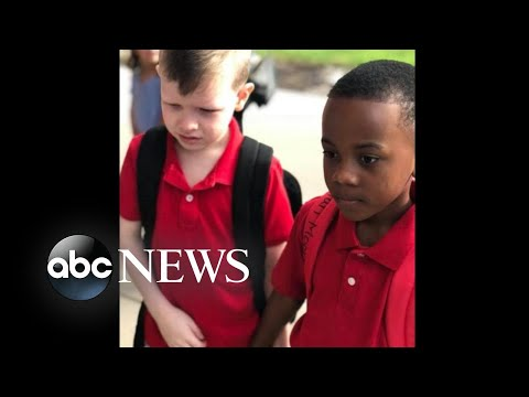 Ashley Nics - LOVE THIS! Little Boy Consoles His Autistic Friend on First Day of School
