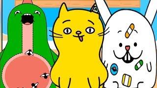 ДОКТОР КИД #4 лечу котика, песика и черепашку. Мультик игра для детей про животных #пурумчата