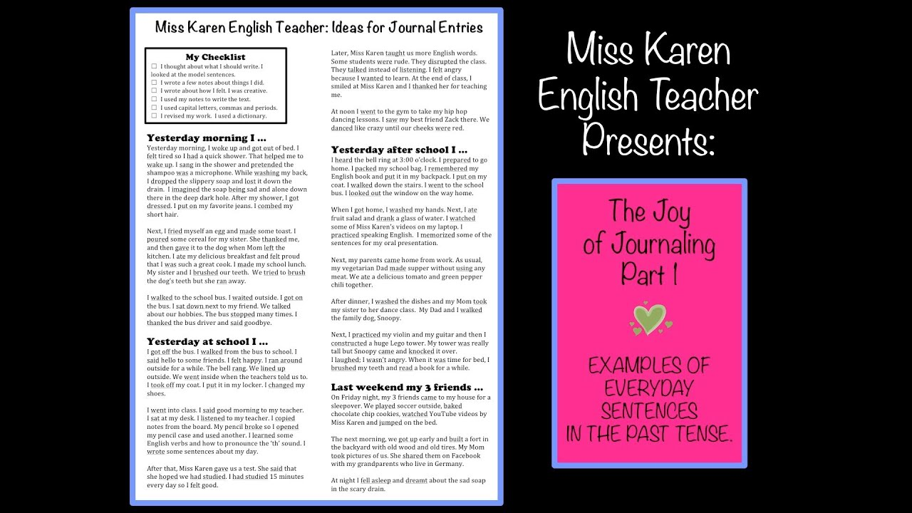 Journal Examples From Handout (id:25)