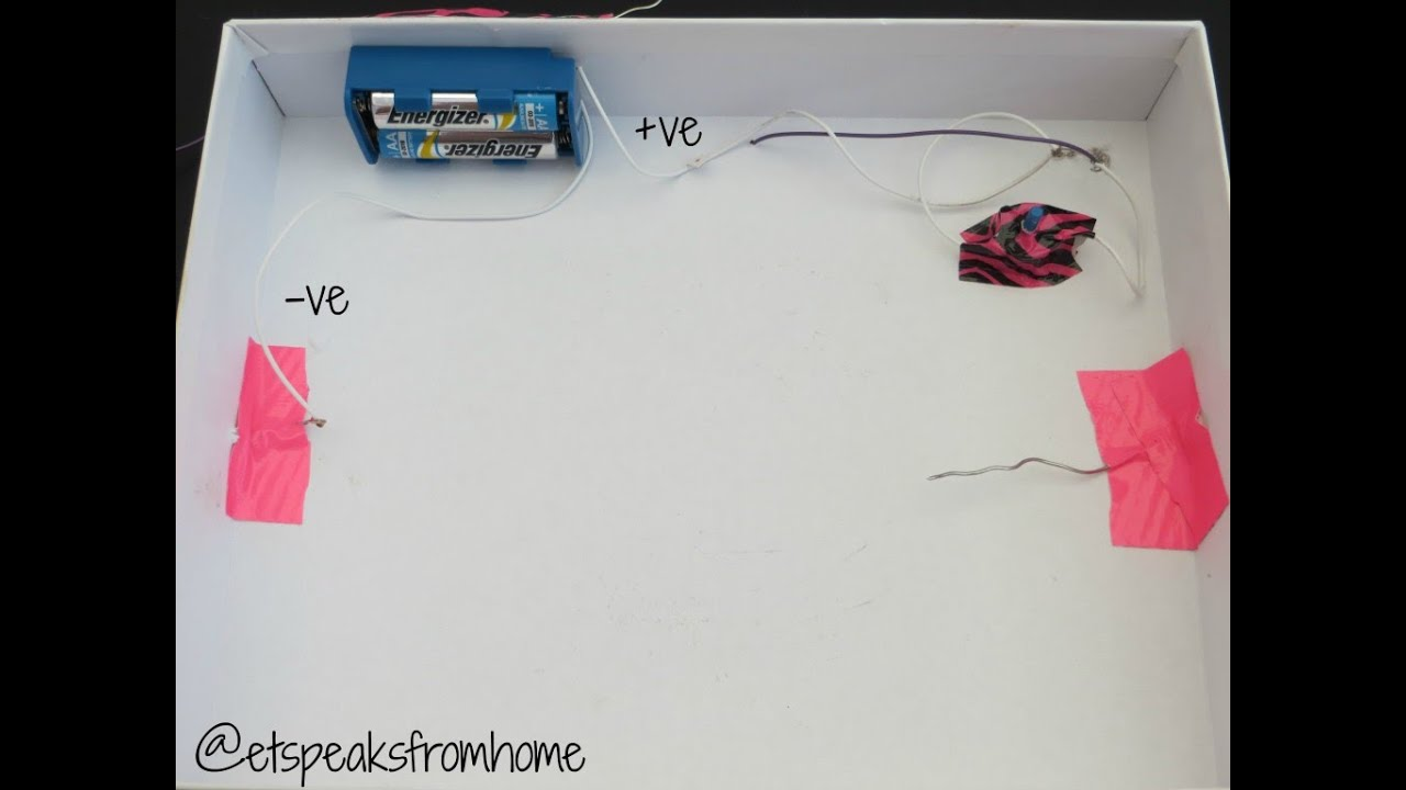 How to make a simple circuit with on/off switch for a light bulb ...