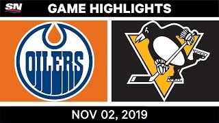 NHL Highlights   Oilers vs. Penguins – Nov. 2, 2019