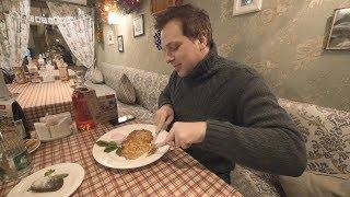 "Soviet Cafe ""Kvartirka"". St. Petersburg, Russia. Russian Cuisine."