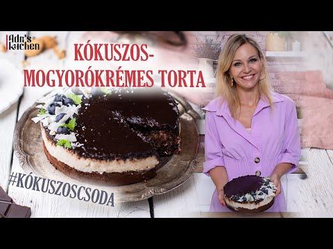 NAGYON KÓKUSZOS-MOGYORÓKRÉMES TORTA