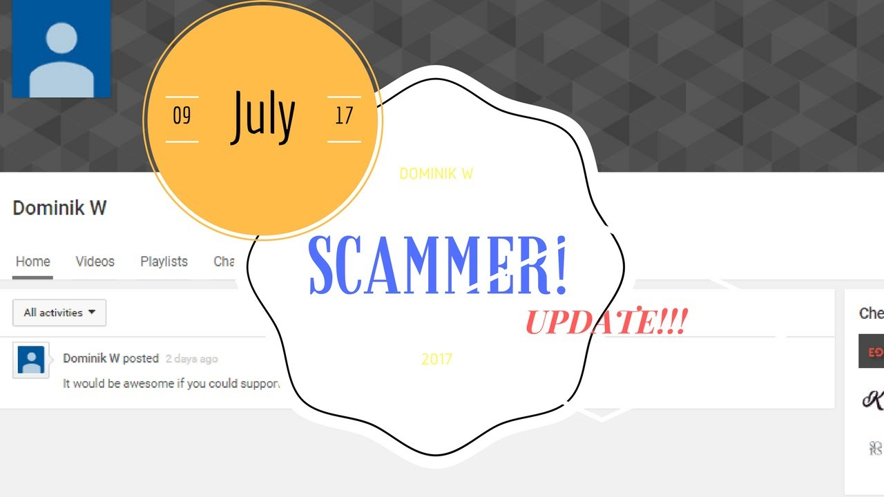 Scammer Update: Dominik W Anna E New Instagram Account! #1