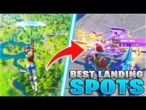 The 5 BEST Landing Spots For EASY Wins + Kills! (Fortnite Chapter 2 Best Drop Spots)