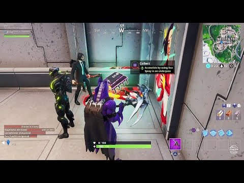 Fortnite Season 9 Fortbyte Challenge #22 - Accessible By Using Rox Spray In An Underpass Guide