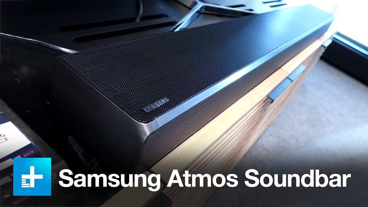 Atmos - On Hw-k950 Samsung Soundbar Dolby Hands