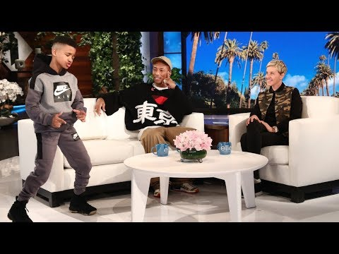 Pharrell Meets Ellen's Favorite Kid Trainer Demarjay