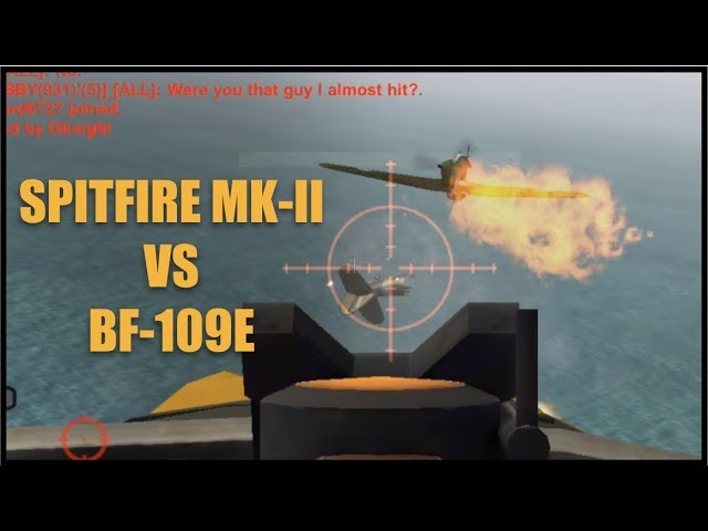 Wings of Duty Spitfire Mk-II VS Bf-109E | Bf-109E Underperforming???