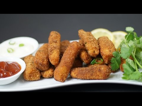 Finger Fish Recipe / Fish Nuggets Recipe / How To Make Fish Fingers At Home