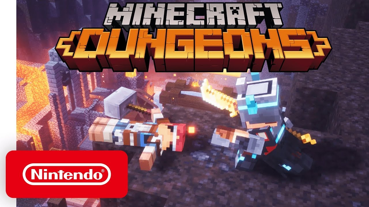Minecraft Dungeons Announcement Trailer Nintendo