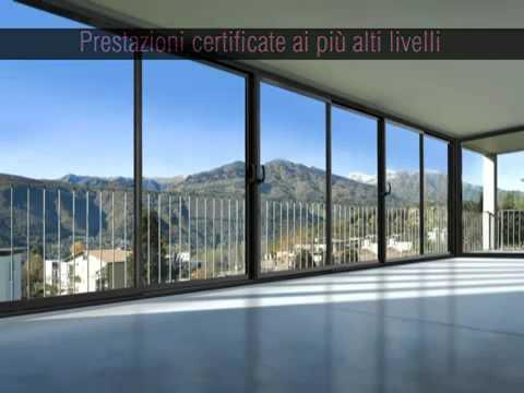Allart presenta essenza il vetro che scorre youtube - Allart finestre porte ...