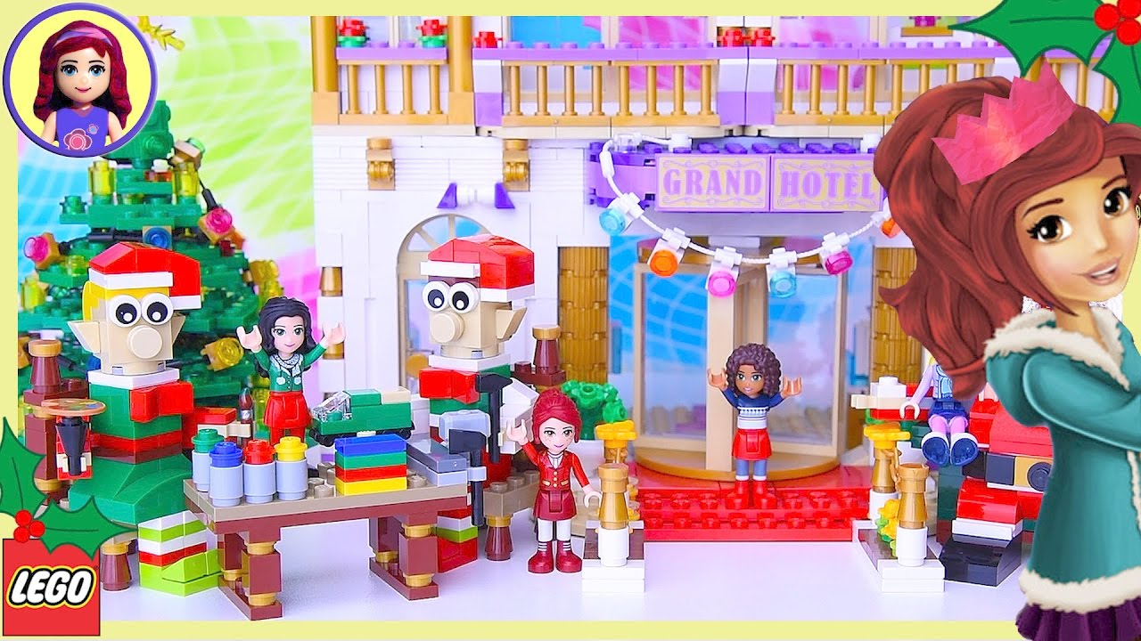 Lego Friends Build Giant Little Elf Helpers Grand Hotel Build Silly Play Kids Toys Youtube