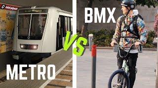 Metró ELLEN Versenyeztem BMXel - RaceTheTube Challenge - Budapest