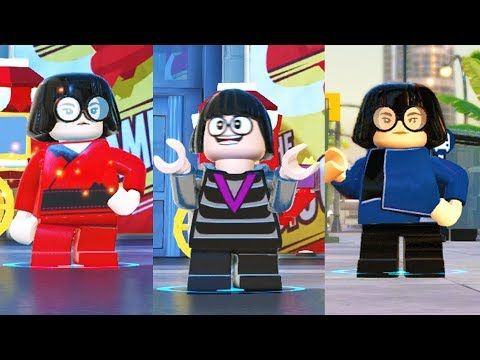 All Edna Costumes In Lego The Incredibles The Videogame Youtube