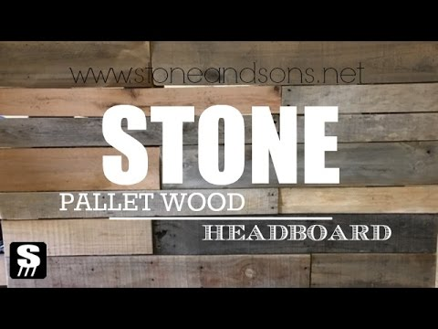 Pallet Wood Headboard - Simple DIY