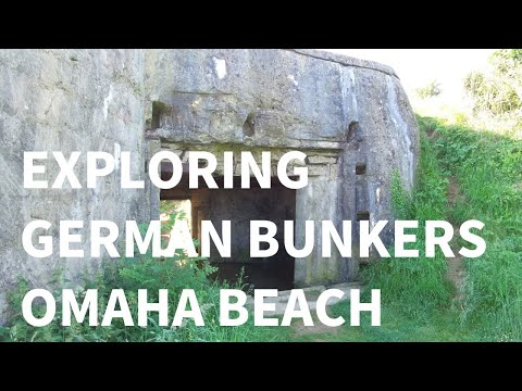 Exploring German Bunkers on Omaha Beach