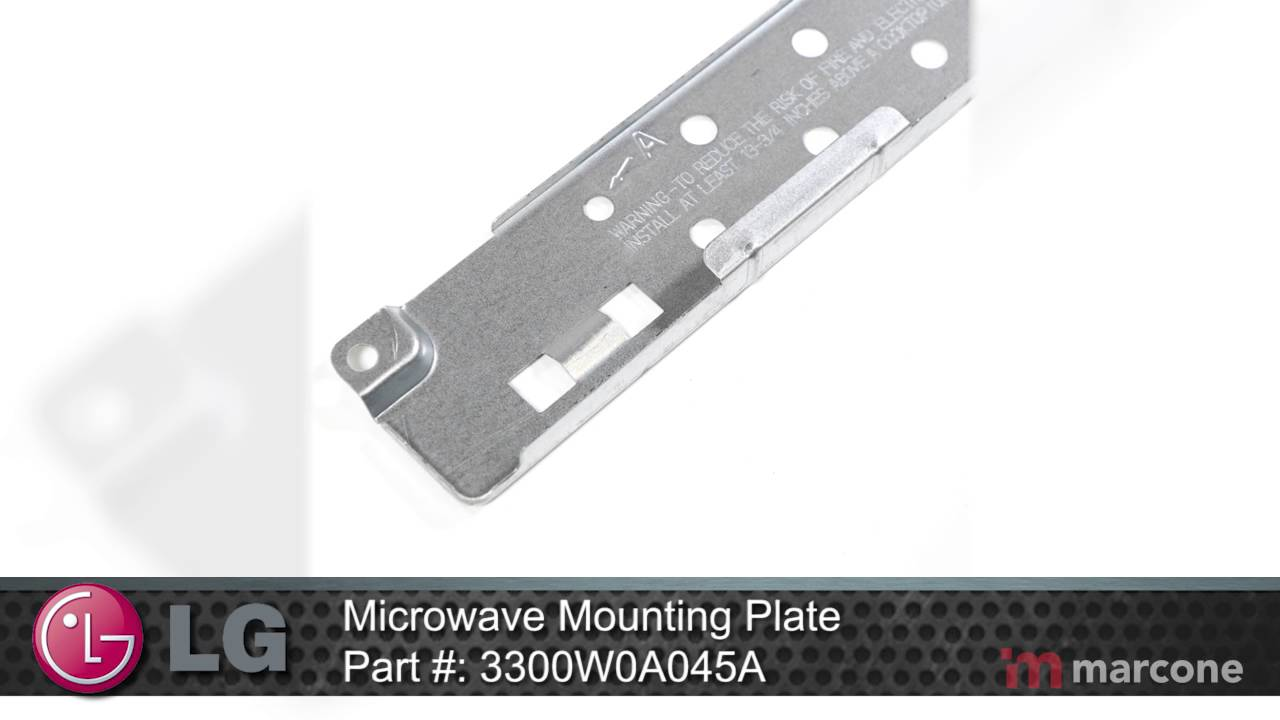 lg microwave mounting plate part 3300w0a045a