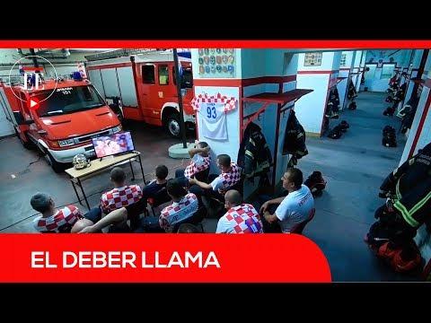 La reacción de los bomberos croatas durante el Mundial se vuelve viral