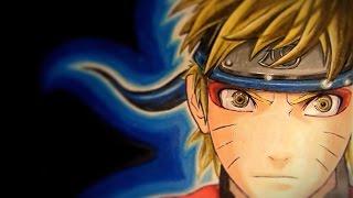 Como dibujar a Naruto Shippuden con figuras geométricas / how to draw Naruto Shippuden