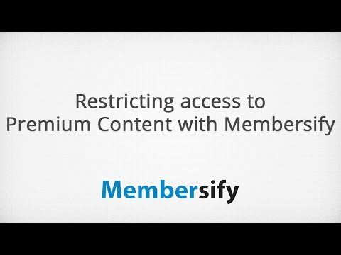 Restricting Access to Premium Content on Your Site