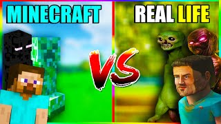 Minecraft mobs in real life 🔥