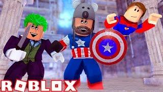 CAPTAIN AMERICA + JOKER = BFFS!?!? | Superhero Tycoon | ROBLOX