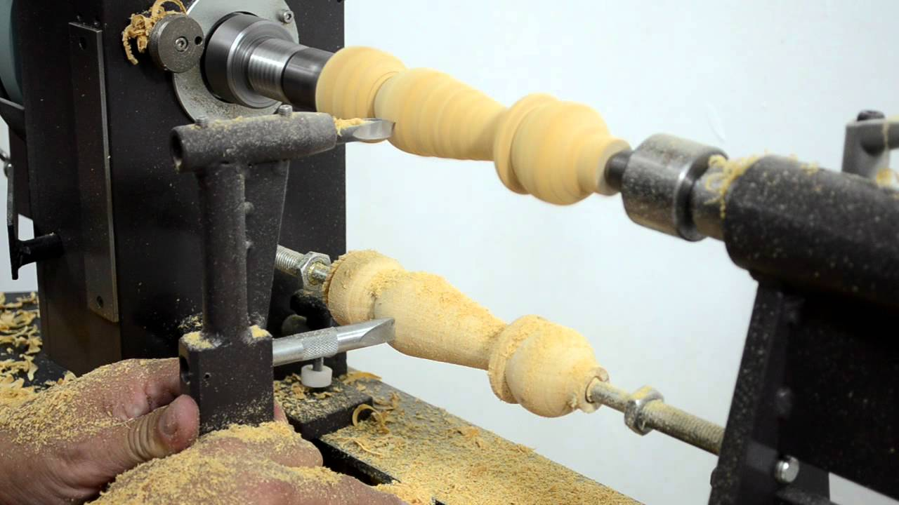 Megaturn Woodturning Lathe Copying From A Sample Youtube