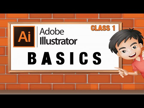 ILLUSTRATOR TUTORIAL Class 1 | Creating Custom Designs | MULTIMEDIA GURU | URDU/HINDI thumbnail