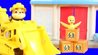 paw patrol rubble s post office rescue set and mission command microphone imaginext skateboard dude