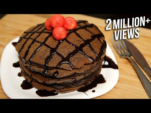 Chocolate Pancake Recipe | Eggless Pancake Recipe | Ruchi's Kitchen