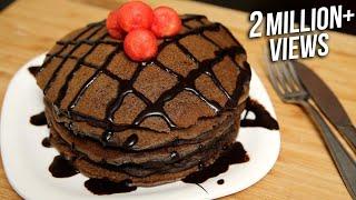 Chocolate Pancake | Eggless Pancake Recipe | Ruchi's Kitchen