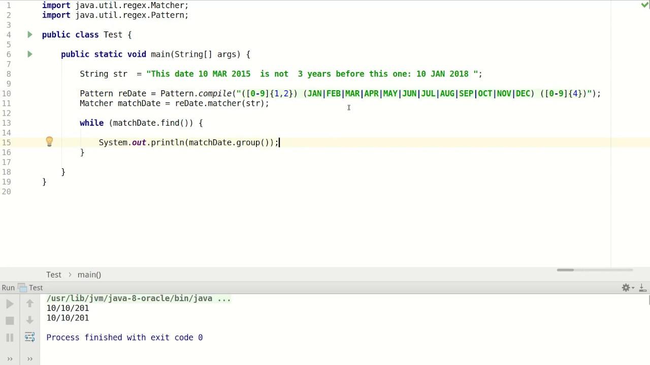 Java Regex Matcher Example Youtube