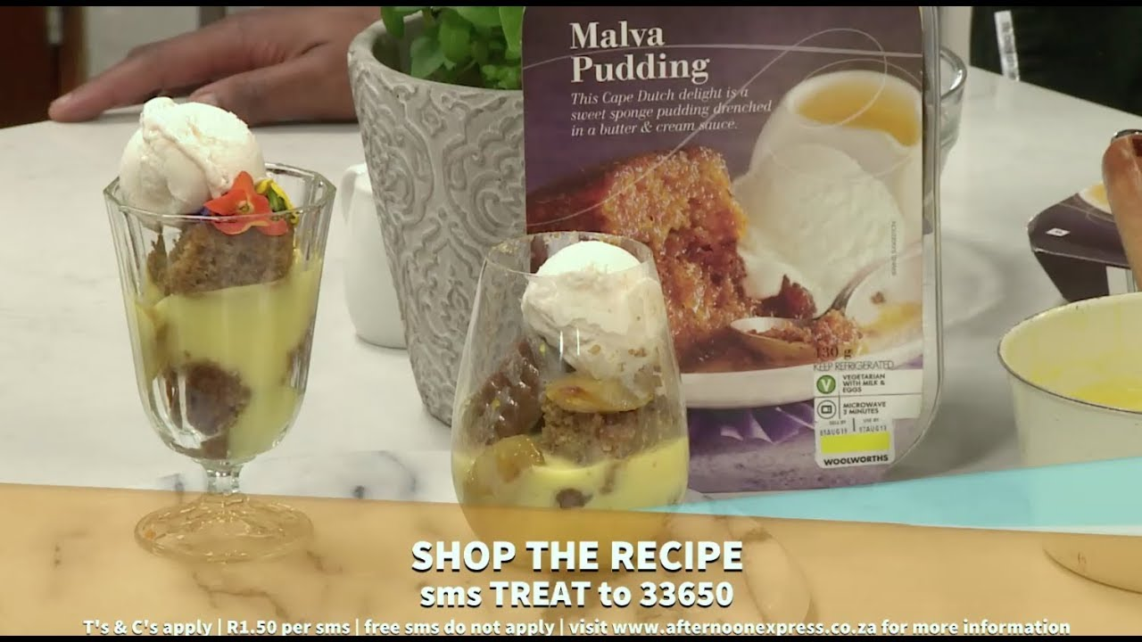 Woolworths Warm Winter layered Malva pud   Afternoon Express   30 July 2019