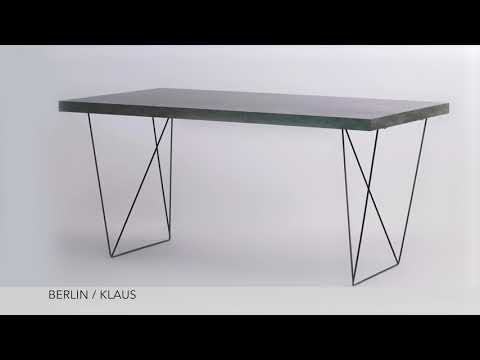 Concrete Look   Berlin Bookcase, Klaus Side Table And Multi Trestles  From Tema Home