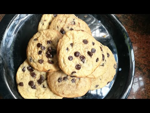 How To Make Chocolate Chip Cookies With & Without Oven / Chocolate Chip Cookies Recipe In Malayalam