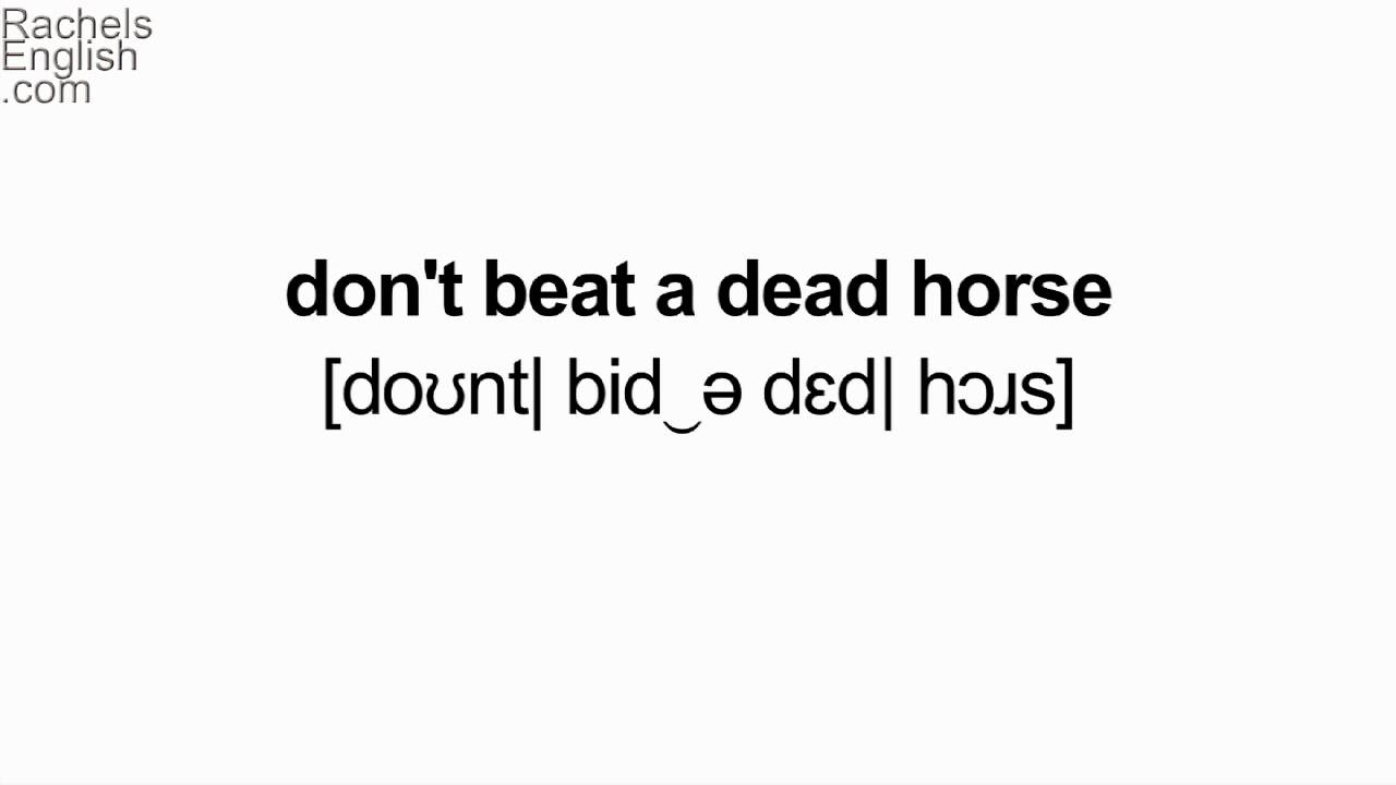 Horse Idioms! American English Pronunciation - YouTube