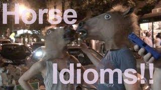 Horse Idioms!  American English Pronunciation