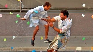Slow Motion Water Balloon Fight with 1500 people Starring Freddie Wong