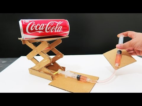 How to make hydraulic powered robotic arm from cardboard pdf