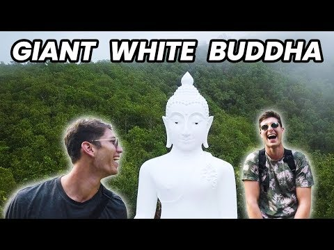 Crazy Climb to the Giant White Buddha of Pai - Thailand Travel Vlog
