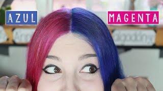 ¡PELO AZUL Y MAGENTA! ✩ teñirse de dos colores - Ann Look
