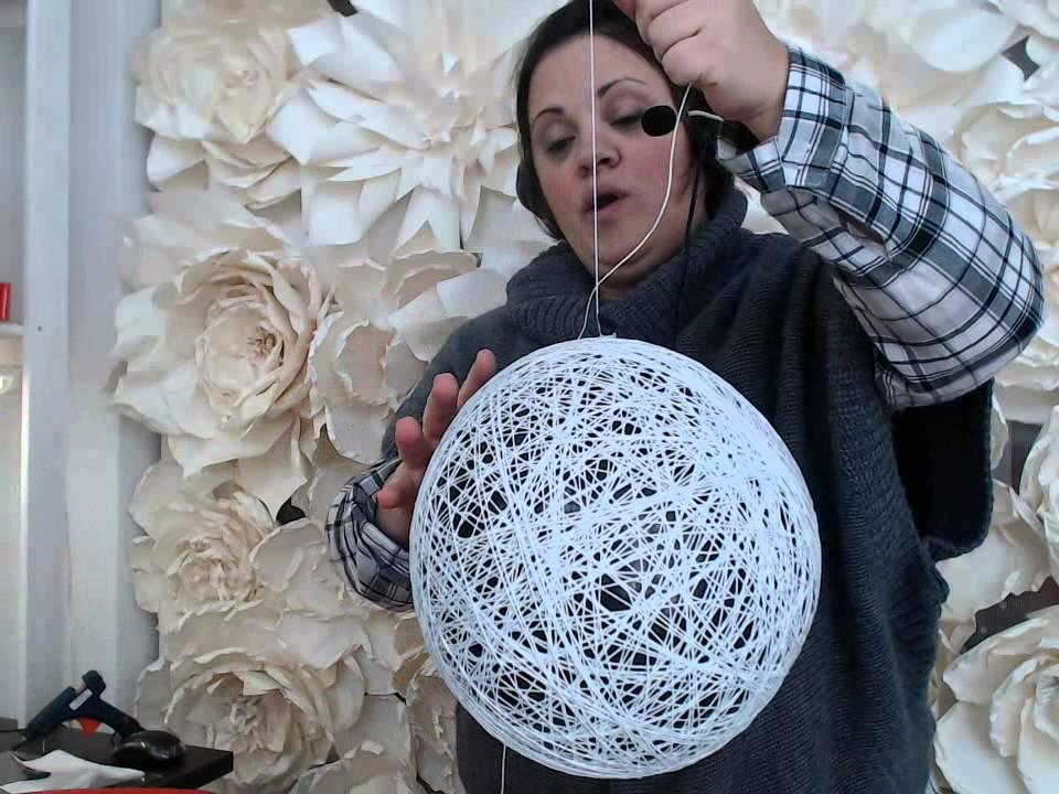 Globos de hilo para decorar nuestra mesa de dulces 2 video - Como hacer bolas para decorar ...