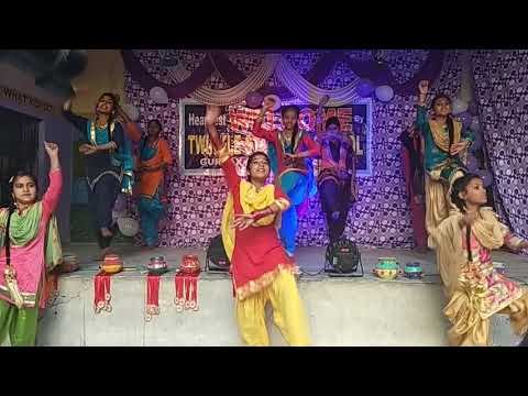 Khushi dance with red with yellow suit