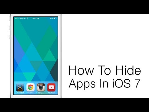 How to Hide Apps from Your Home Screen in iOS 7