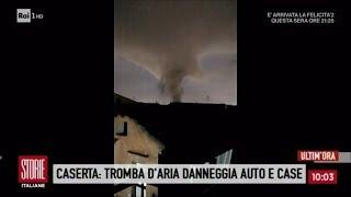 Le immagini della violentissima tromba d'aria a Caserta - Storie italiane 13/03/2018